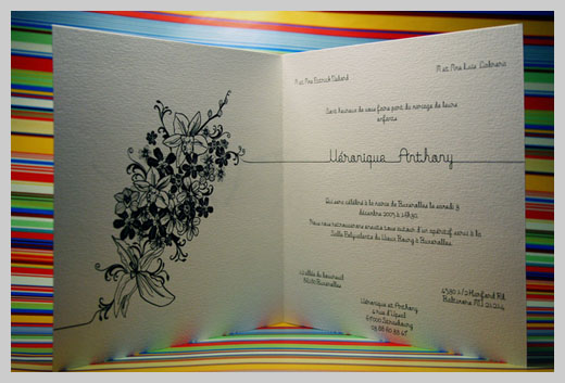 Wedding Invitation Greeting Cards - Veronique et Anthony
