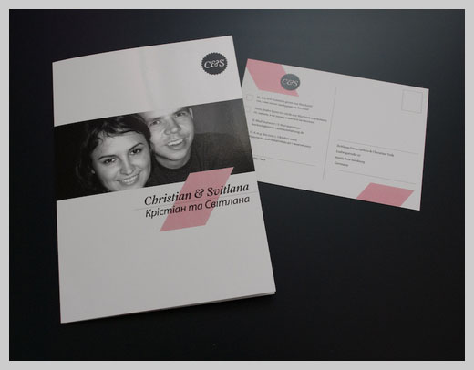 Wedding Invitation Greeting Cards - Christian and Sweta