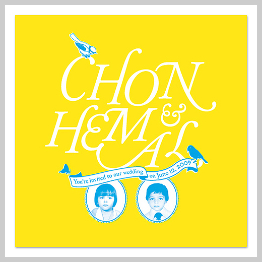 Wedding Invitation Greeting Cards - Chon and Hemal
