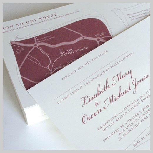 Wedding Invitation Greeting Cards - Owen and Lisabeth