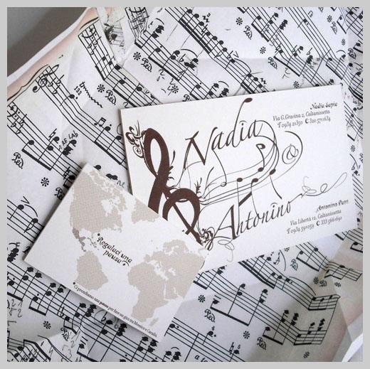 Wedding Invitation Greeting Cards - Nadia and Antonino