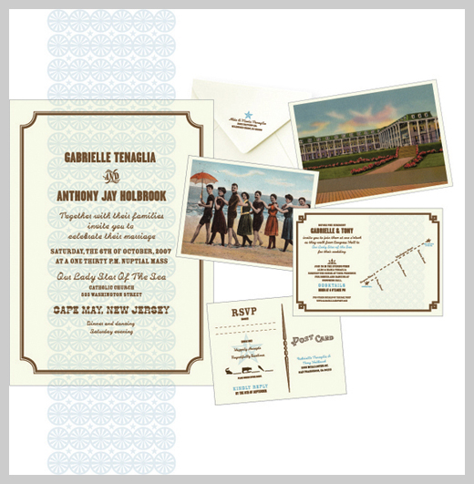 Wedding Invitation Greeting Cards - Cape May Invite