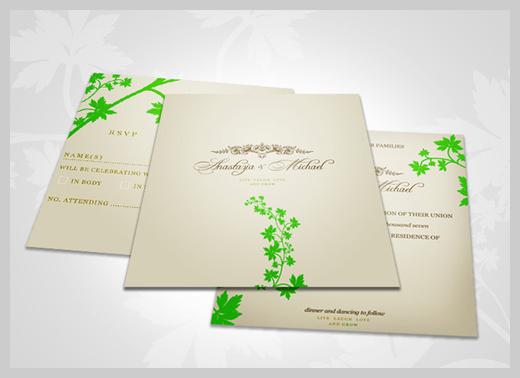 Wedding Invitation Greeting Cards - Anastasya and Michael