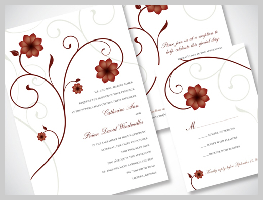 E Card Wedding Invitation: 36 Customized Wedding Invitation Greeting Cards
