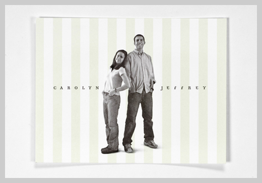 Wedding Invitation Greeting Cards - Carolyn and Jeffrey