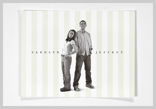 Wedding Invitation Greeting Cards - Carolyn and Jeffrey