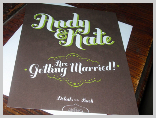 Wedding Invitation Greeting Cards - Andy and Kate