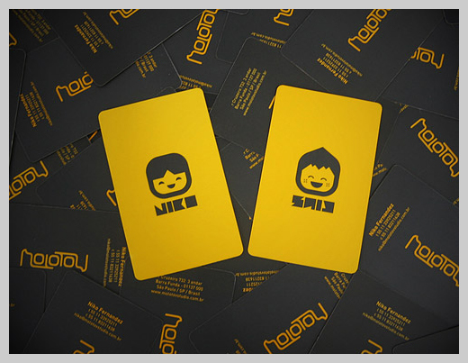 Yellow Business Cards - Molotov Studio