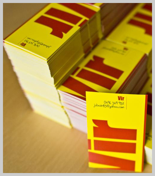 Yellow Business Cards - Vir by Edustries