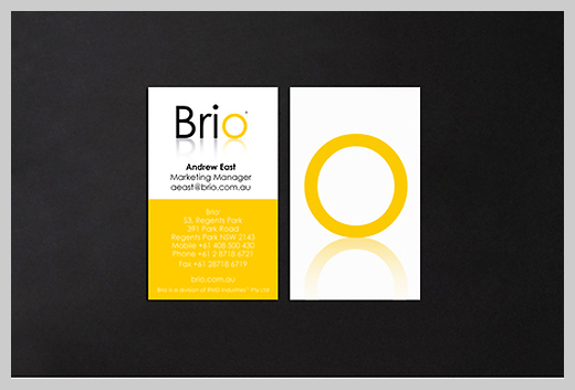 Yellow Business Cards - Brio