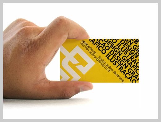 Yellow Business Cards - Anema Design