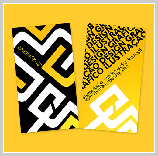 Yellow Business Cards - Yellow Card