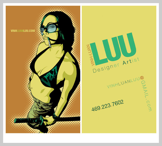 Yellow Business Card - Vinh-Luan Luu