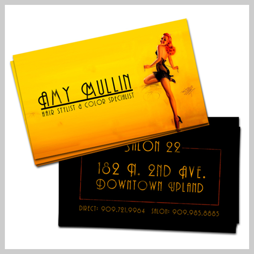 Yellow Business Cards - Amy Mullin