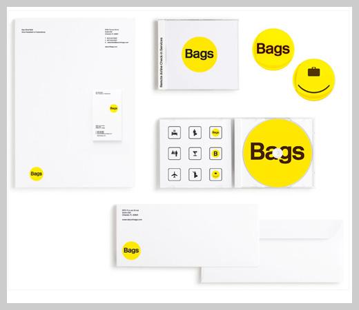 company letterhead design airport bags