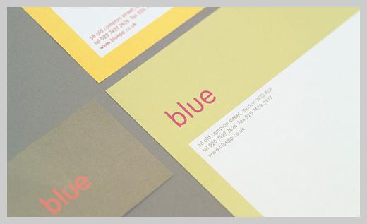 Company Letterhead Design - Blue