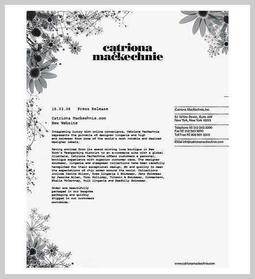 Company Letterhead Design - Catriona Mackechnie