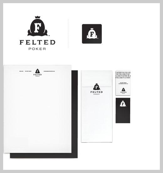 Company Letterhead Design - Felted Poker