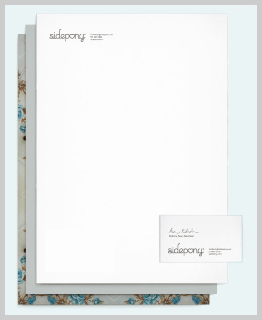 Company Letterhead Design - Sidepony