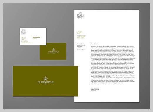 Company Letterhead Design - Christofle