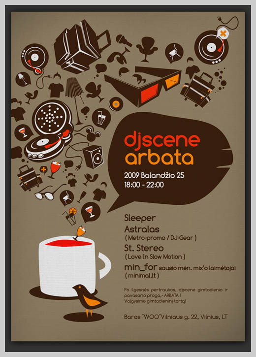 Event Flyer Design - DJ Scene Tea