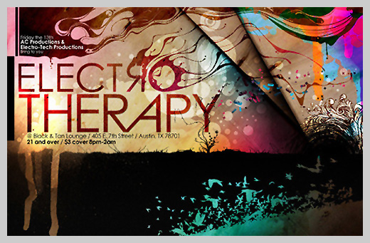 Event Flyer Design - Electro Therapy