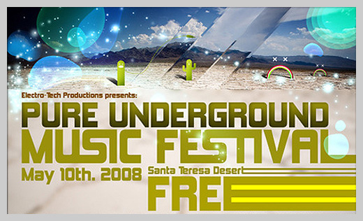 Event Flyer Design - Pure Underground Music Festival
