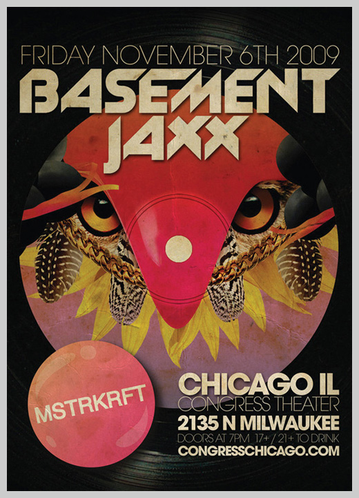 Event Flyer Design - Basement Jaxx