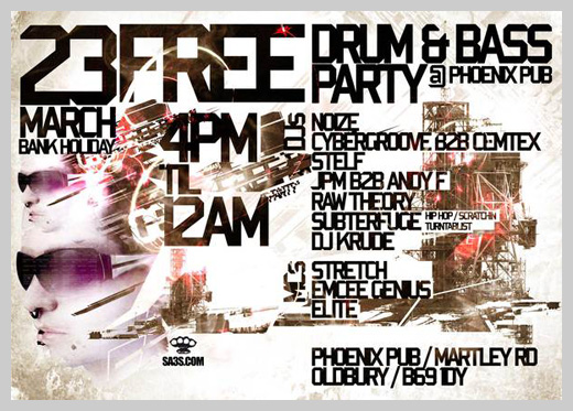 Event Flyer Design - Free Drum and Bass Party