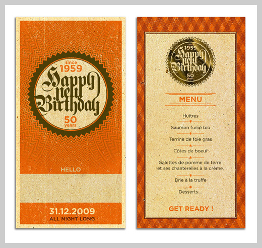 Sample Party Invitations - Happy New Birthday