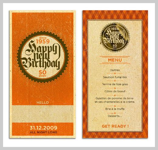 Sample Party Invitations - Happy New Birthday