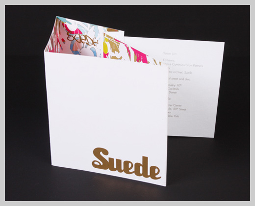 Sample Party Invitations - Suede Magazine