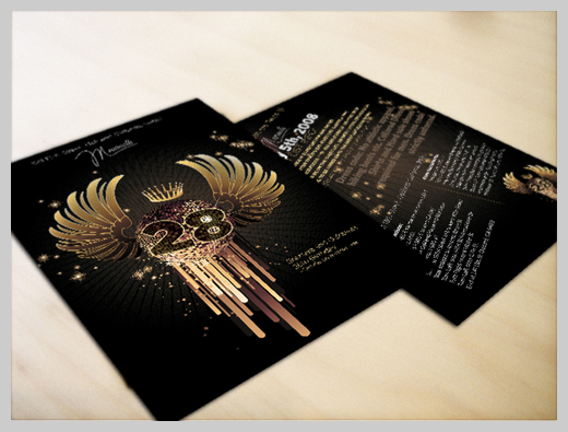 Sample Party Invitations - Golden 28