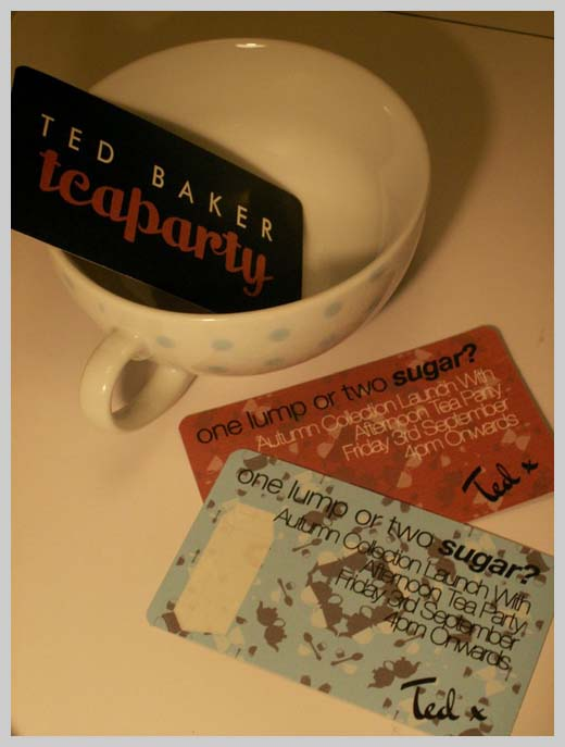 Sample Party Invitations - Ted Baker