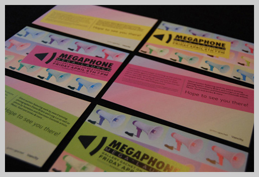 Sample Party Invitations - Megaphone Relaunch Party Invites