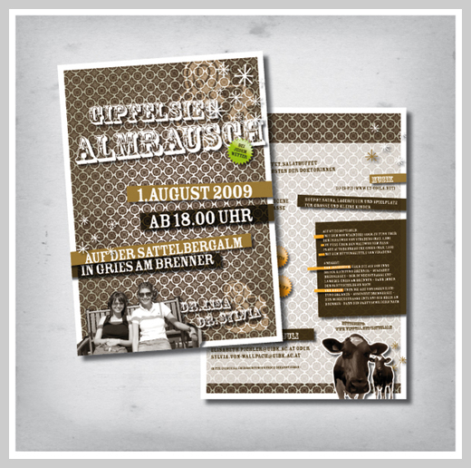 Sample Party Invitations - Gipfelsieg and Almrausch