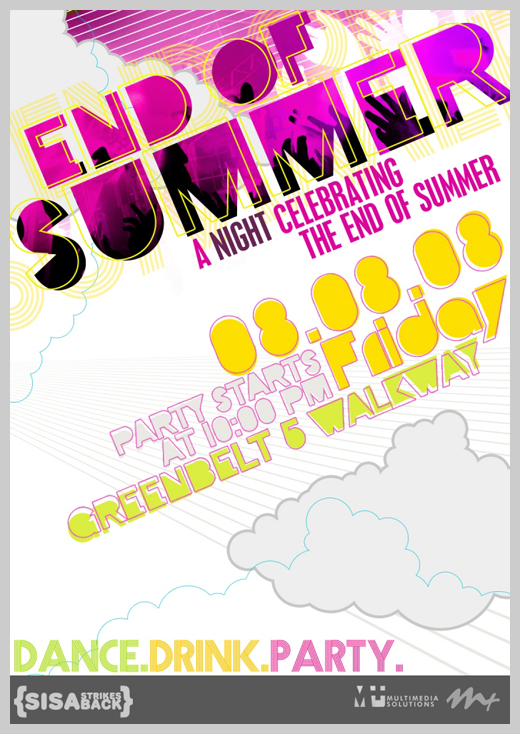 46 sample party invitations and announcements uprinting sample party invitations end of summer party flyer stopboris Choice Image