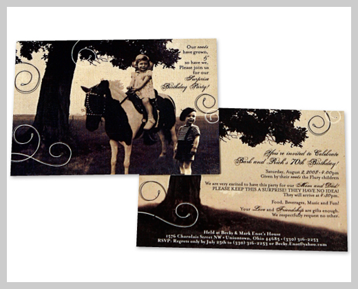 Sample Party Invitations - The Barb and Rich Show