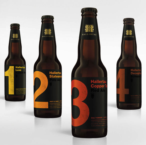 Bottle Label Designs - Hallertau Beer