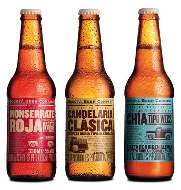 Bottle Label Designs - Bogota Beer Company