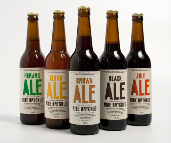 Bottle Label Designs - Ribe Bryghus