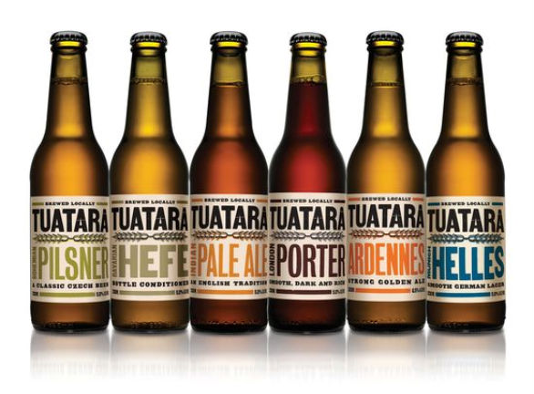 Bottle Label Designs - Tuatara Brewery