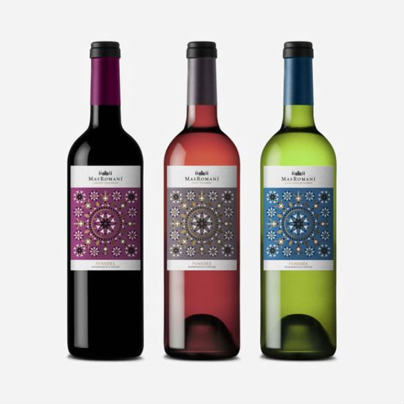 Bottle Label Designs - Mas Romani Wine