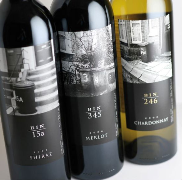 Bottle Label Designs - Bin Wine