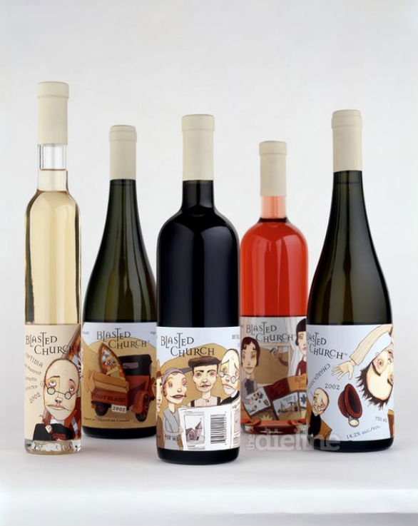 Bottle Label Designs - Blasted Church Vineyards