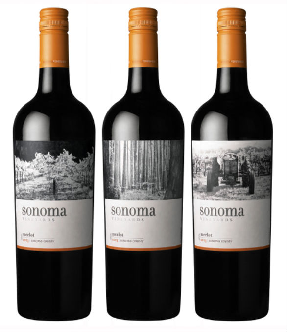 Bottle Label Designs - Sonoma Vineyards