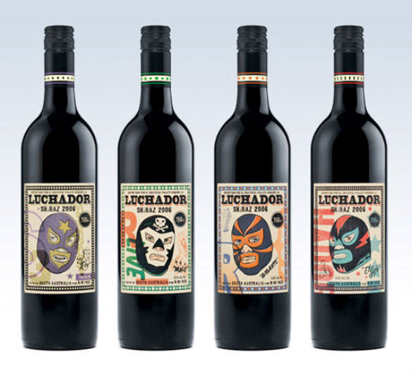 Bottle Label Designs - Luchador