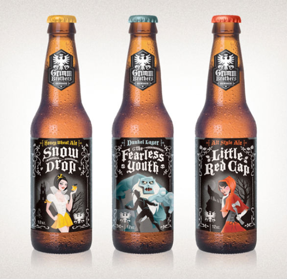 Bottle Label Designs - Grimm Brothers