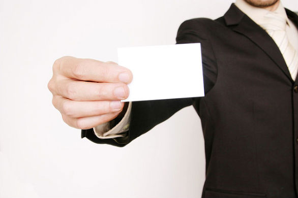 Business Card Marketing Man Holding