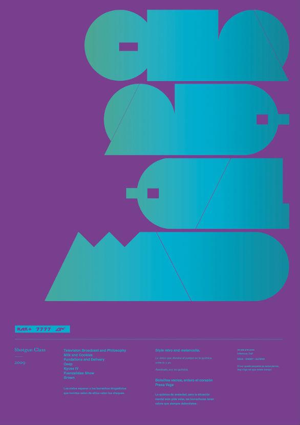 Poster Design Inspiration - Type Shotgun 2